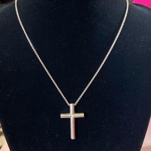 Tiffany & Co. Cross Diamond Necklace